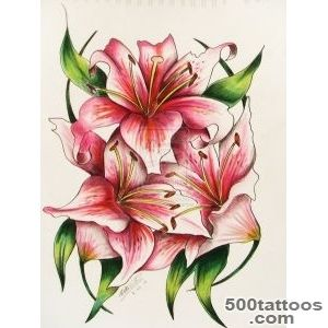 Lily Tattoos, Designs And Ideas  Page 16_23