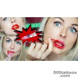 LIP TATTOO COLOR PEEL OFF MASK FAIL (review)   YouTube_28