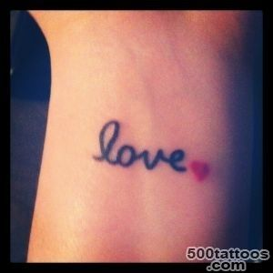 40+ Love Tattoos On Wrists_25