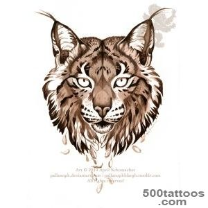Black Lynx Tattoo Stencil By Natalia_4
