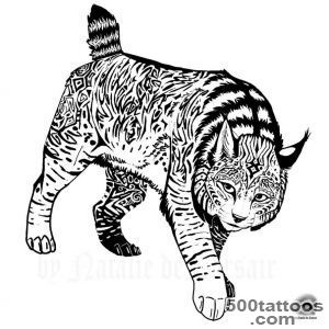 Black Lynx Tattoo Stencil By Natalia_30
