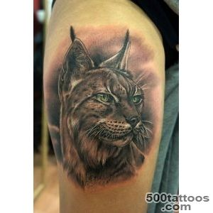 Colorful portrait of lynx tattoo on arm   Tattooimagesbiz_17
