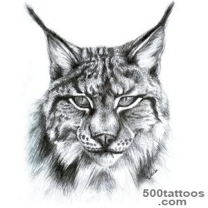 Lynx Tattoo On Thigh_6