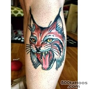 My fierce traditional Lynx tattoo by Gary Royal @ Idle Hand, San _11