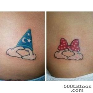 20 Magical Tattoos For Couples Who Love Disney As Much As They _23