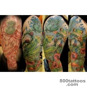 Frog, Mantis And Ladybugs Tattoo Picture_12