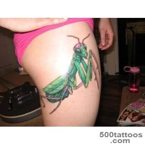 Mantis Tattoo Girl Side Thigh_32