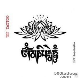 Mantra tattoo design, idea, image