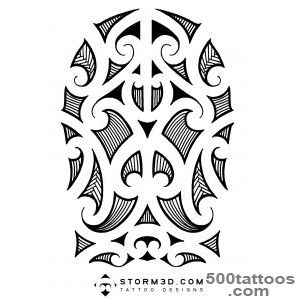 Maori, Samoan and Polynesian inspired tattoo designs, hand drawn _43