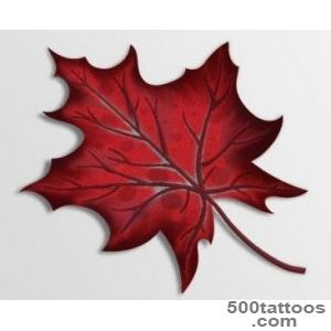 Maple tattoo design, idea, image