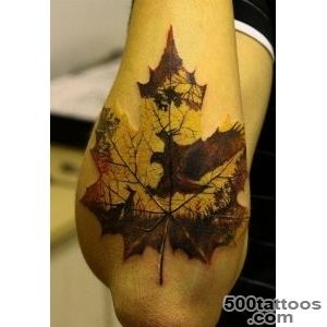 maple leaf tattoo arm  Cool Tattoos Designs_5