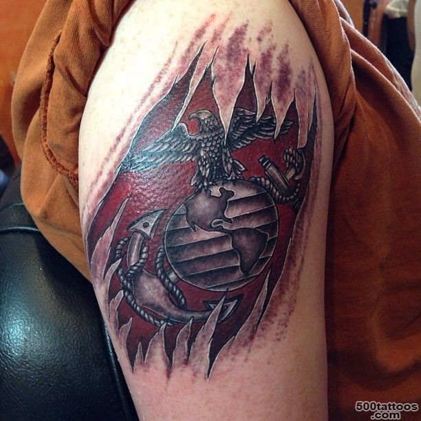 25 Cool USMC Tattoos   Meaning, Policy and Designs_6