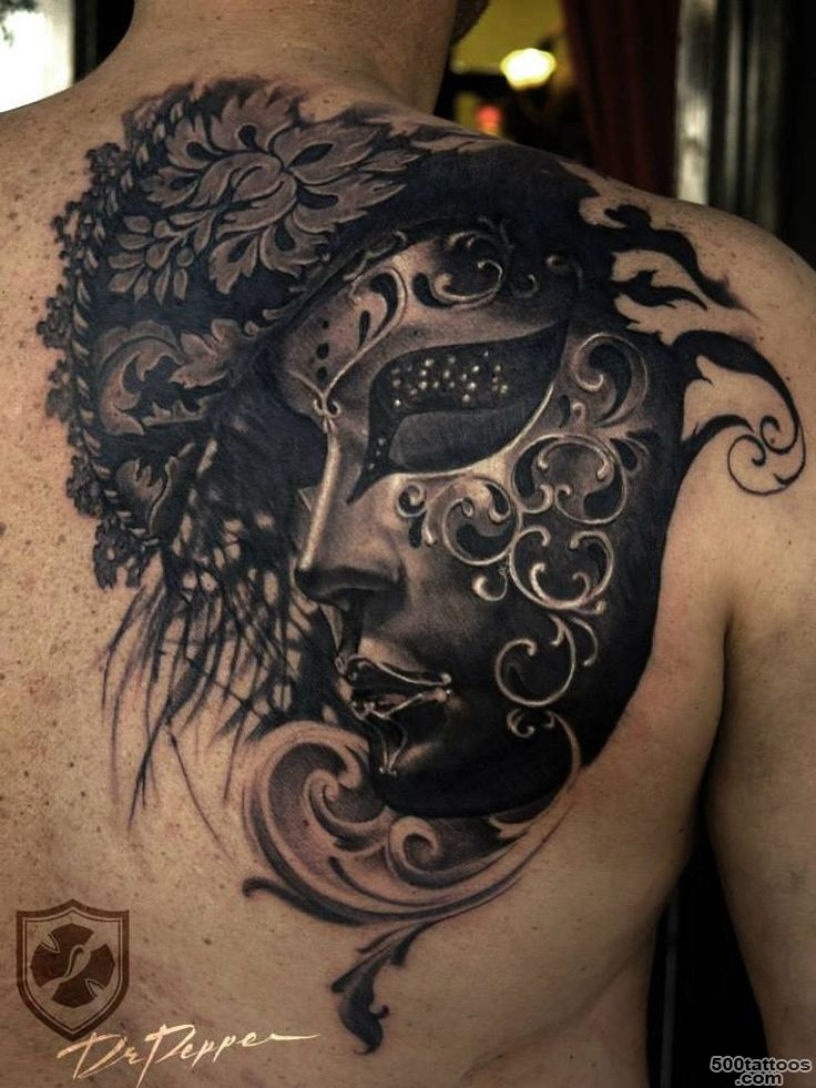 1000+ ideas about Mask Tattoo on Pinterest  Hannya Mask Tattoo ..._5