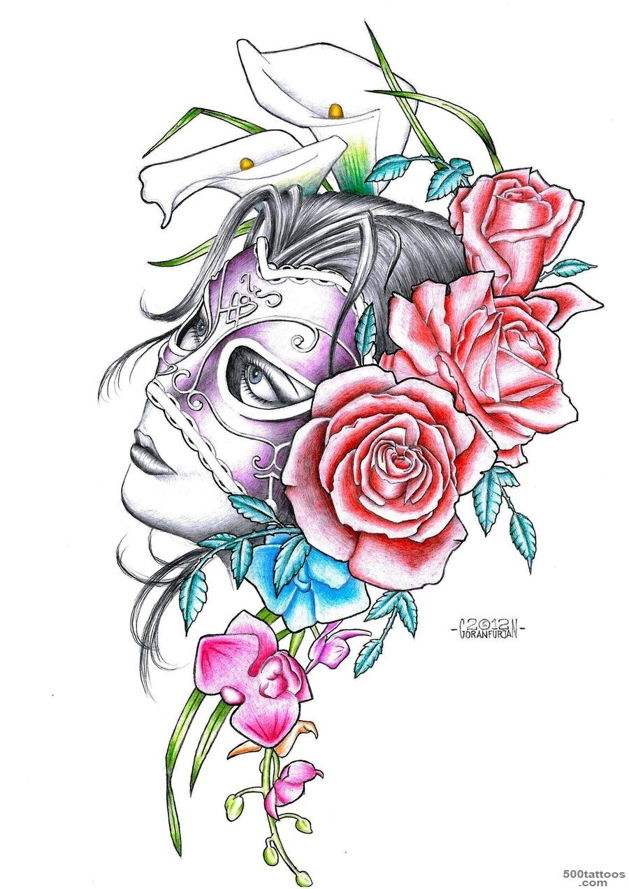 Mask Tattoos, Designs And Ideas  Page 32_41