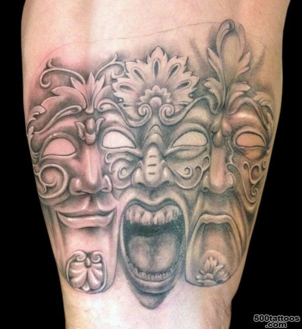 Pin Venetian Mask Tattoo Designs on Pinterest_18