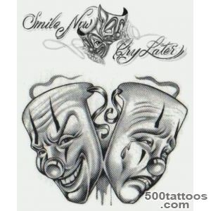 Mask tattoo design, idea, image