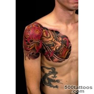 35 Gorgeous Japanese Mask Tattoos_37