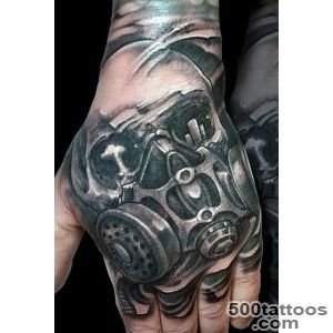 100 Gas Mask Tattoo Designs For Men   Breath Of Fresh Ideas_12
