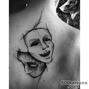 Theatre Mask Tattoo Designs  Best Tattoo Ideas Gallery_3