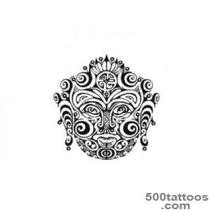 Maya And Maori Traditional Mask Tattoo Design  Tattoobitecom_33