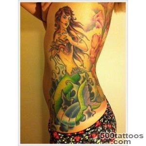 30 Beautiful Examples of Mermaid Tattoos_17