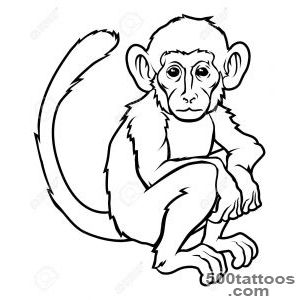 Monkey tattoo design, idea, image