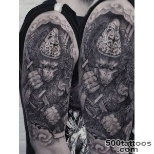 Warrior Monkey Tattoo  Best Tattoo Ideas For Men And Women_46