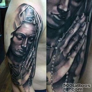 100 Virgin Mary Tattoos For Men   Religious Design Ideas_12