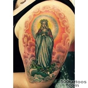 Upper Sleeve Saint Mary Mother Tattoo  Tattooshuntercom_40
