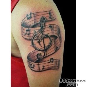 60 Awesome Music Tattoo Designs  Art and Design_8