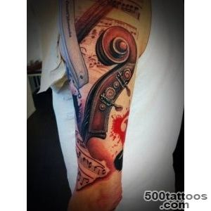 60 Awesome Music Tattoo Designs  Art and Design_23