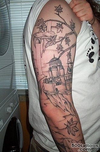 Muslim themed sleeve tattoo   Tattooimages.biz_6