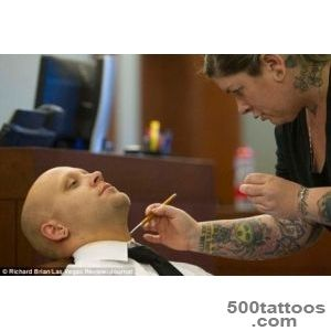 Bayzle Morgan has Neo Nazi tattoos covered up for trial in Las _13