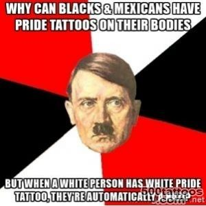 Why can blacks amp Mexicans have pride tattoos on their bodies but _8