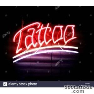 Neon Tattoo Sign Stock Photos amp Neon Tattoo Sign Stock Images   Alamy_18