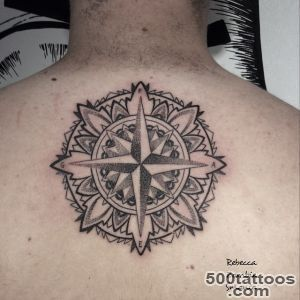 Back Dotwork Mandala North Star tattoo  Best Tattoo Ideas Gallery_45