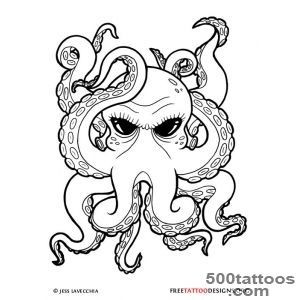 66 Octopus Tattoo Designs_50