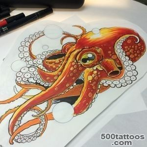 Best Underwater Octopus Tattoo On Sleeve   Tattoes Idea 2015  2016_43
