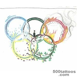 Famous Olympic Rings Tattoo_38