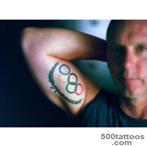 For US Swimmers, Olympic Rings Tattoo Is Badge of Honor   The _13