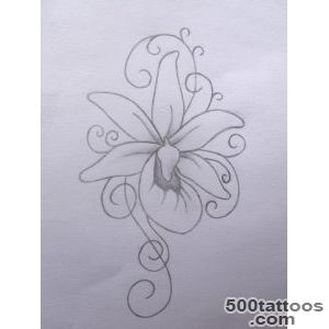 30+ Awesome Orchid Tattoos Designs_3