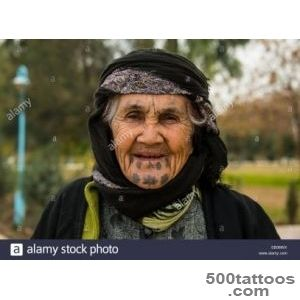 Syrian Orthodox Kurdish Woman With Tattoos On Her Face, Erbil _42