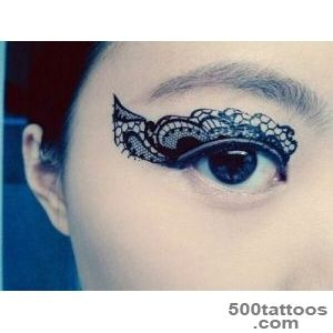 1 Pair of Temporary Tattoo Transfer Stickers for Eyes   black _29