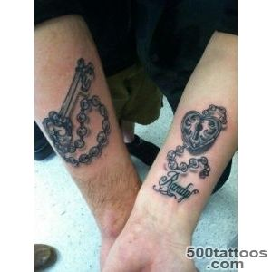 50 Inspiring Lock and Key Tattoos  Art and Design_25