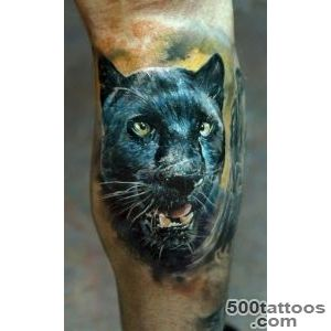 Realistic Black Panther Tattoo   Domantas Parvainis http _17