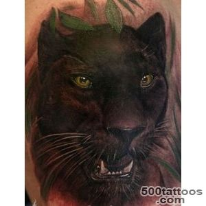 Wonderful watercolor black panther tattoo   Tattooimagesbiz_38
