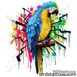 Parrot tattoo design, idea, image