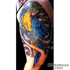 Beautiful Parrot Bird Tattoo On Shoulder  Tattoobitecom_41