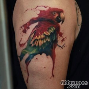 Parrot Tattoo on Shoulder  Best Tattoo Ideas Gallery_4