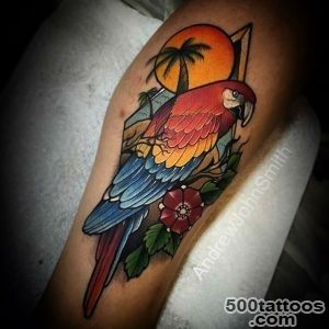 Parrot Tropical Tattoo  Best Tattoo Ideas Gallery_2